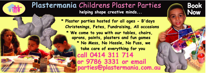 plaster painting party